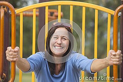Attractive joyful smiling senior woman