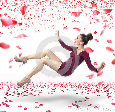 Free Attractive Lady Falling Down Stock Photo - 27853370
