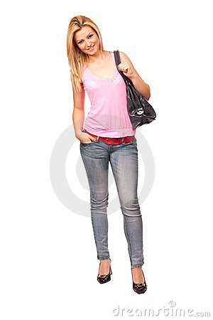 Free Attractive Lady With Purse Royalty Free Stock Photos - 14431138