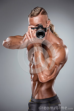 Free Attractive Male Body Builder On White Background Royalty Free Stock Photo - 51866355