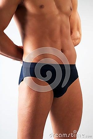 Attractive male body fragment
