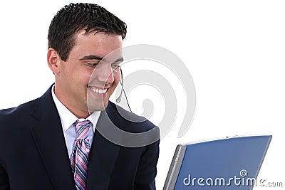 Attractive Male Customer Service Representative