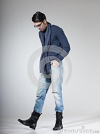 Attractive male model posing in the studio