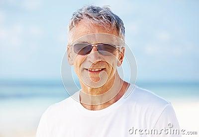 Attractive man in sun glasses