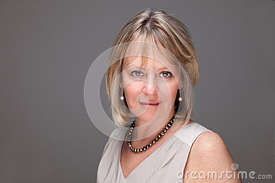 Attractive Mature Woman with Intense Look