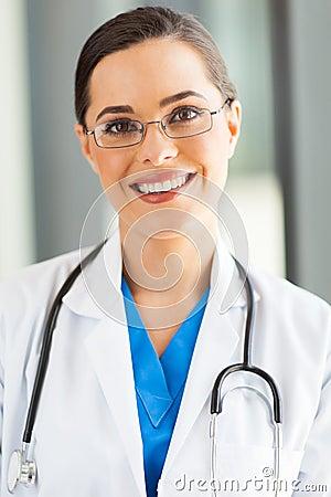 Attractive medical worker