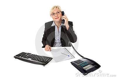 Attractive middle aged businesswoman at office