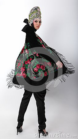 Attractive model in exclusive design clothes