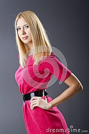Attractive model in studio shooting