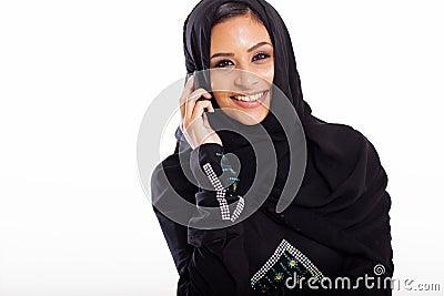 Muslim woman phone