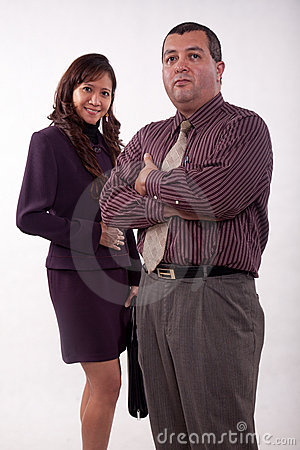 Attractive multi racial business team
