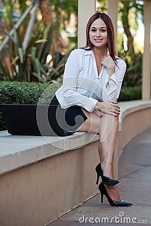 Attractive native American businesswoman
