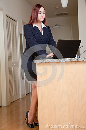 Attractive Native caucasian business woman