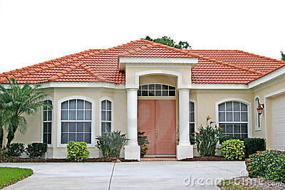 Attractive New Home with Coral Door