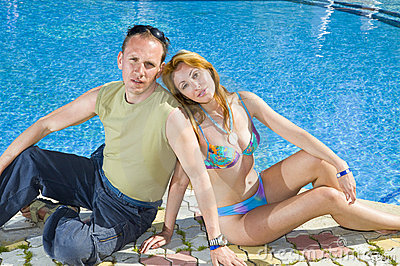 Attractive �ouple has a rest