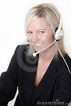 Free Attractive Receptionist Royalty Free Stock Images - 460609