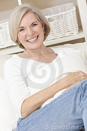 Attractive Senior Woman Relaxing At Home