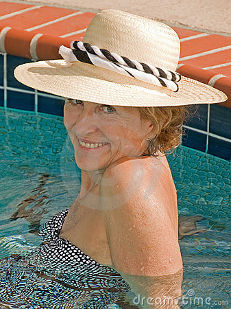Attractive Senior Woman In Spa Stock Photo - Image: 14360610