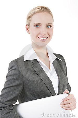 Attractive smiling business woman