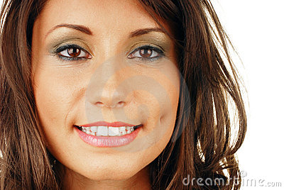 Attractive smiling woman mouth