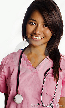 Free Attractive Smiling Young Asian Student Nurse Stock Photo - 11322360