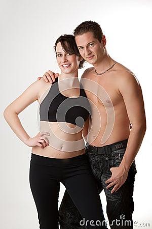 Attractive sport couple