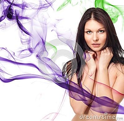 Attractive tender woman