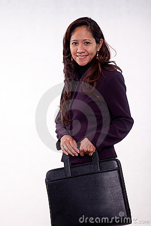 Attractive thirties asian businesswoman