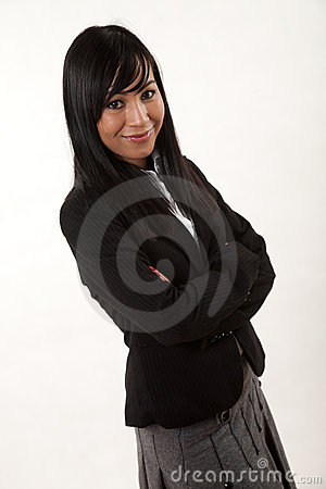 Attractive thirties asian career woman