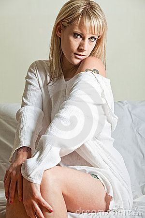 Attractive thirties blond caucasian woman