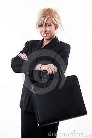 Attractive twenties caucasian blonde businesswoman