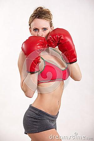 Attractive twenties caucasian fitness woman