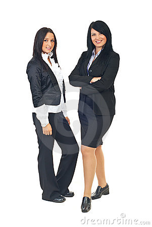 Attractive two business women