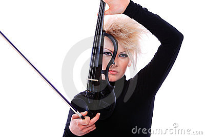 Attractive Violinist Playing The - 21.0KB