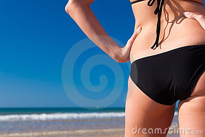 Attractive Woman in bikini on beach