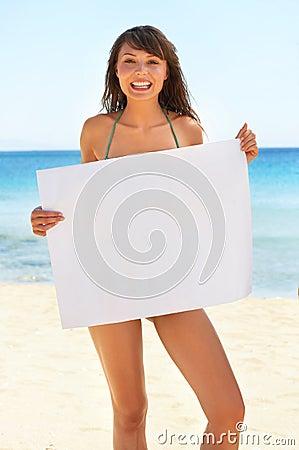 Attractive woman, billboard
