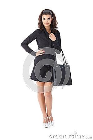 Attractive woman in black