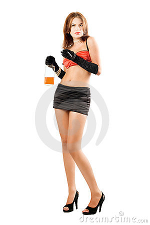 More similar stock images of ` Attractive woman with a bottle and ...