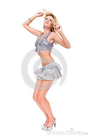 Attractive woman dancing