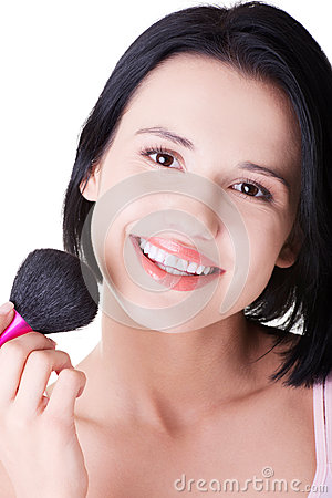 Free Attractive Woman Doing Make-up On Face. Stock Photo - 33834010
