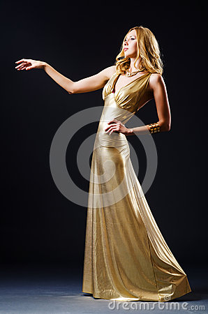 Attractive woman in  dress
