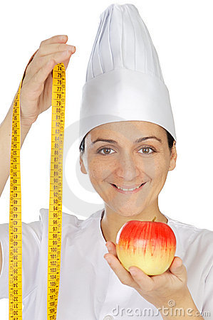 Attractive woman happy cook