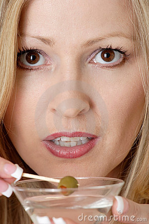 Free Attractive Woman Having A Martini Stock Photos - 490613