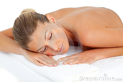 Attractive woman having relaxation