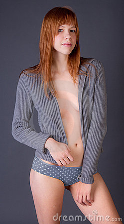 Free Attractive Woman In Revealing Open Sweater Stock Images - 22123094