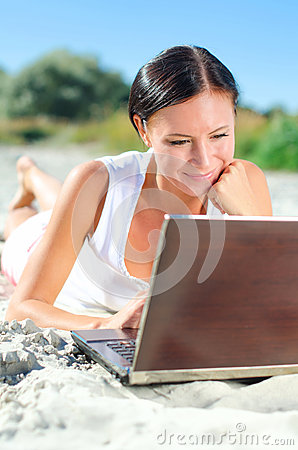 Attractive woman with laptop