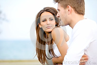Attractive Woman Listening to Her Boyfriend