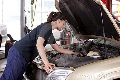 Attractive Woman Mechanic