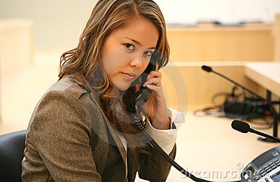 Attractive Woman on Phone
