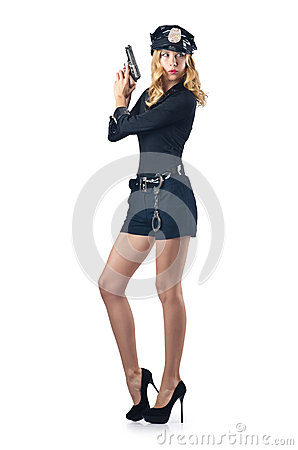 Attractive woman police